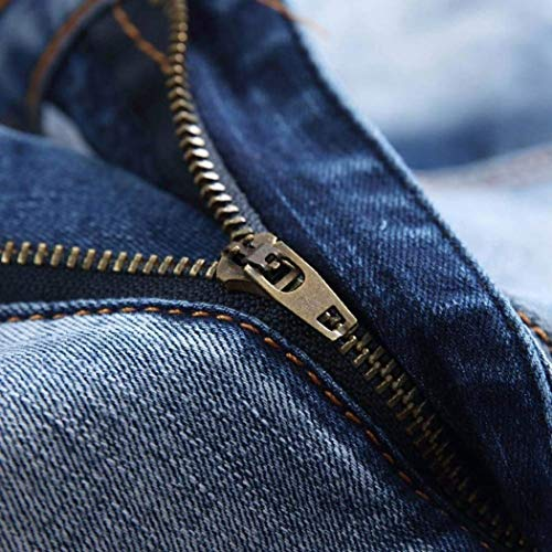 Cher 38 32 40 Rte Skinny Ragazzi Jeans Ginocchia Vestibilità 42 Sulle Strappato Motociclista 28 Uomini 36 Fori Classiche Zipper 30 Blaub 34 w6T4Yx