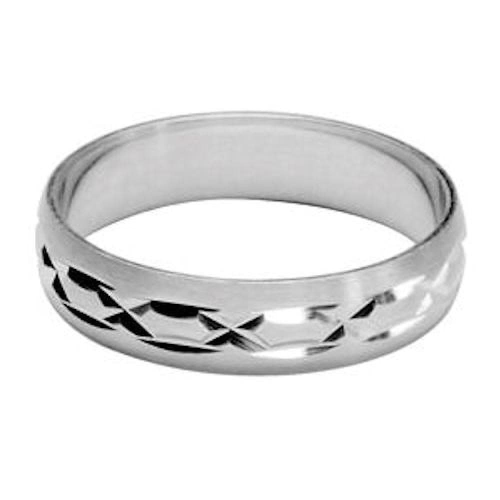 So Chic Jewels 925 Sterling Silver 5 mm Brushed Effect Pattern Wedding Band Ring Your Message Engraved Free Customisable