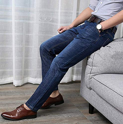 Hombres T Algodón Ssige Vaqueros De Estiramiento Jeans Chicos Pierna Vaqueros De Fit De Negocios Cintura Regular Slim Colour Original Rectos Clásico Pantalones Mediados Recta Manera Hight De rCcr5TfR
