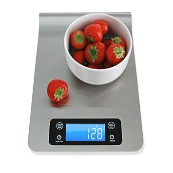 Báscula Digital Cocina,Mengger Electrónicas Balanzas Alimentos Multiusos Smart Hangable Ultrafino Acero Inoxidable Botones con pantalla LCD Táctiles para ...