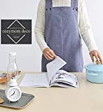 Chef Works Handmade Apron Japanese Style X Shape Denim Smock Natural Linen Apron-blue Jean Color