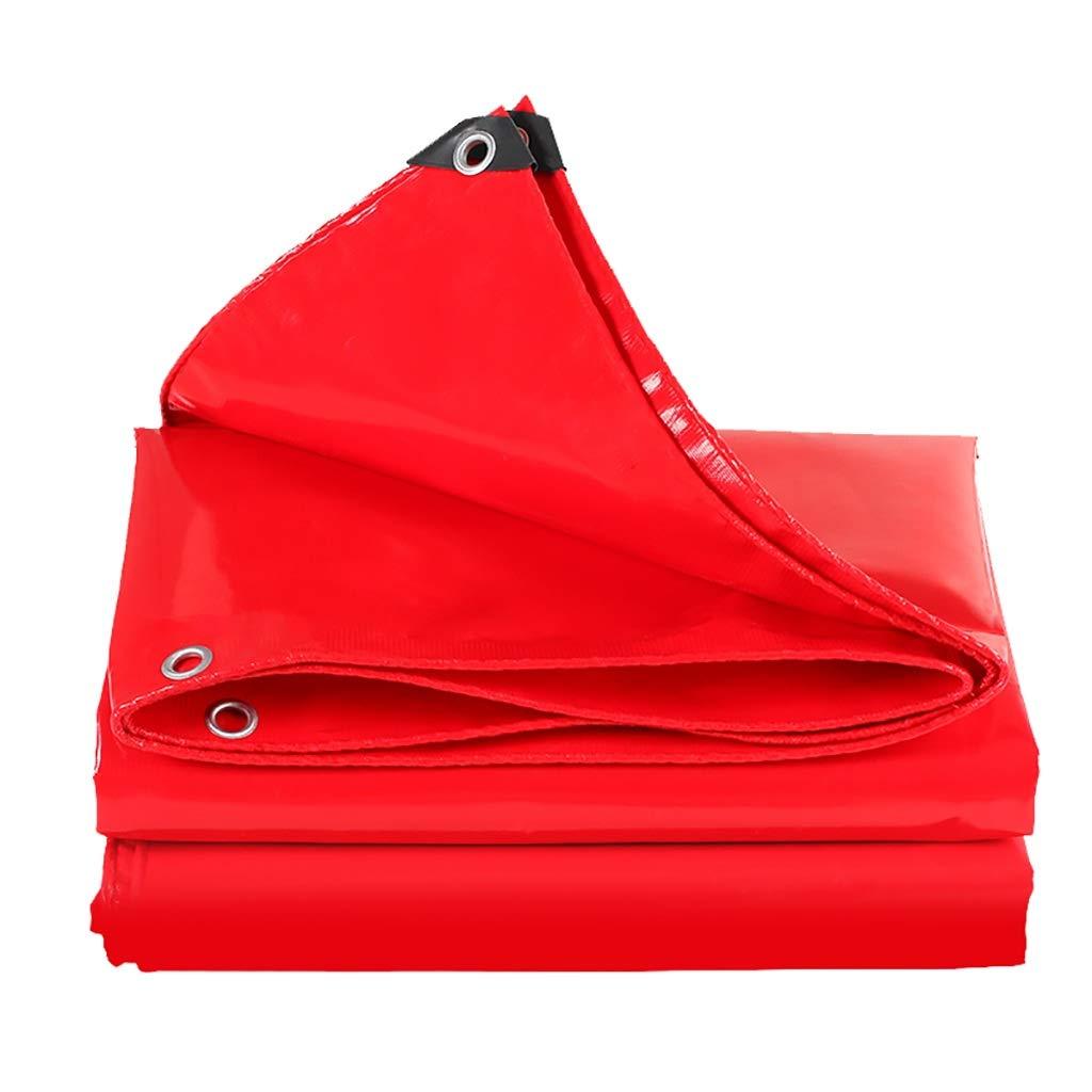 Hfspb Im Freien rote Wasserdichte Plane, leistungsfähige Markise im Freien, LKW-Segeltuch-Sonnencreme-Wasserdichte Isolierung