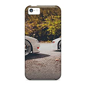 5c Scratch-proof Protection Case Cover For Iphone/ Hot White Nissan Car And Rims Phone Case