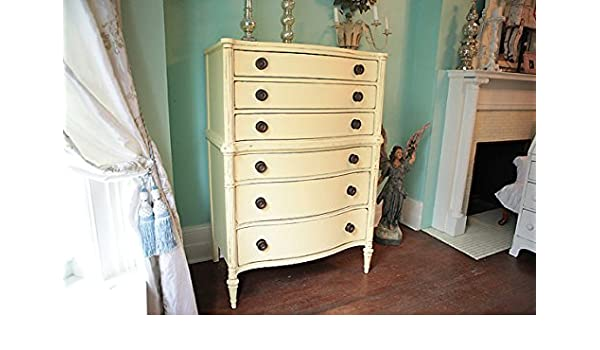 Amazon com  Antique Vintage Shabby Chic Butter Yellow Tall Dresser  Distressed  Kitchen   Dining. Amazon com  Antique Vintage Shabby Chic Butter Yellow Tall Dresser