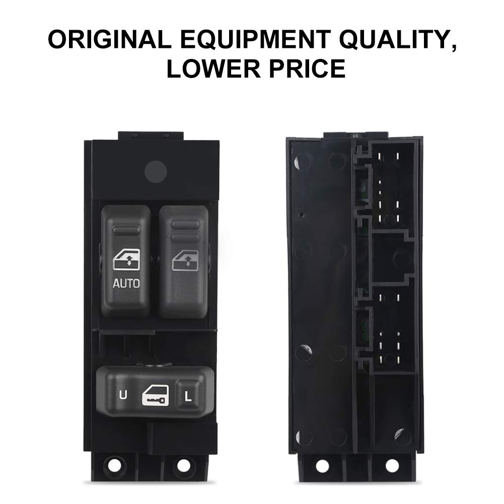 GMC Sierra 1999 Replaces # 15047637,DS-2143,901-117 2500 HD Driver Side Door WMPHE Master Power Window Switch Gray 2500 3500 2000 For Chevrolet Silverado 2002-1500 2001