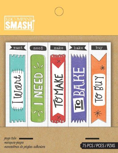 K&CompanySmash Flag Tabs (Smash Book Supplies)
