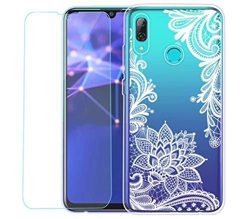 Funda Huawei P smart 2019 Carcasa + HD Suave Protector de pantalla, Suave Suave TPU Protectora Funda Slim Silicona...