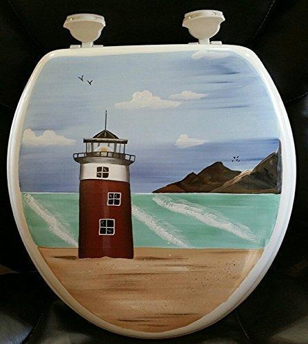 Primitive Country Decor Hand Painted Nautical Light House Da