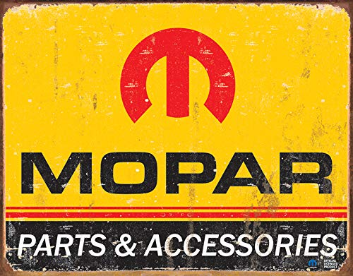 Desperate Enterprises Mopar Logo '64 - '71 Tin Sign, 16