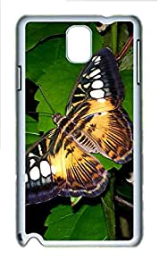 Samsung Galaxy Note 3 N9000 Cases & Covers - Big Butterfly PC Custom Soft Case Cover Protector for Samsung Galaxy Note 3 N9000 - White