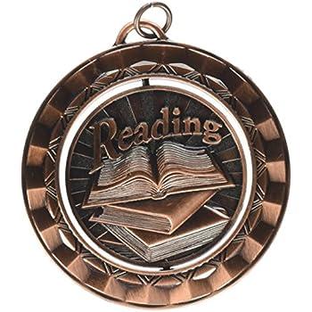 Hammond /& Stephens Reading Die Struck Spinner Medal 2-5//16 in Metal,