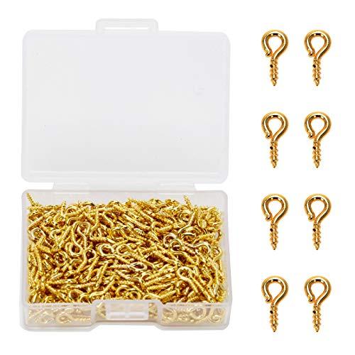 Pasadores Ojo De Tornillo Pequeños10mm X 4.5mm Pack 300 Gold