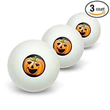 jack o lantern pumpkin halloween novelty table tennis ping pong ball 3 - Halloween Ping Pong Balls