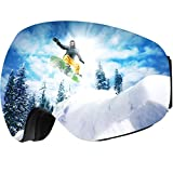 OMorc Ski Goggles Snowboard Goggles Anti-Fog & 100% UV Protection Snowmobile Ski Glasses