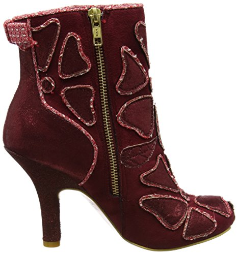 Irregular Choice Damen Frozen Peas Kurzschaft Stiefel Rot