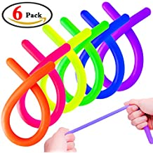 Tactile Sensory Toys for Autistic Children, Sensory Fidget Stretchy String Toy For Kid and Adlut,Reduce Stress and Anxiety for ADHD ADD OCD Autism (6 Pcs, 6 Colors)