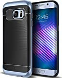 Caseology Wavelength for Samsung Galaxy S7 Edge Case (2016) - Black/Blue Coral