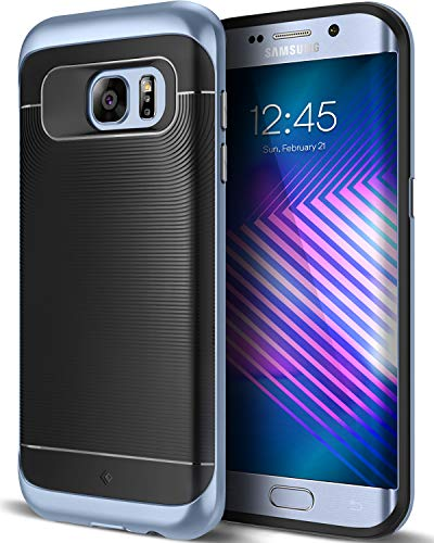 Caseology [Wavelength Series] Galaxy S7 Edge Case - [Stylish & Protective] - Black/Blue Coral