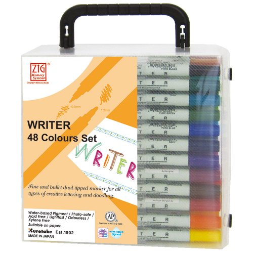Zig Memory System Writer 48 Colors Marker Set