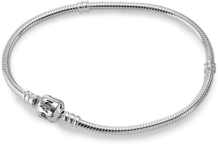 Pandora 19cm Genuine Sterling Silver Bracelet: Amazon.co.uk: Jewellery