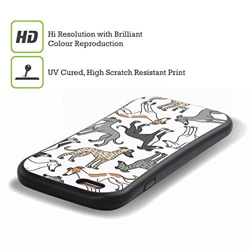 Head Case Designs Whippet Hunde Rassen Modelle 6 Hybrid Hülle für Apple iPhone 5 / 5s / SE