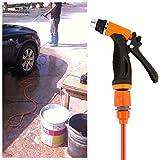 Baynne High Pressure Car Cleaning Kit 70W 130PSI 12V DIY Auto Washing Tools(Color orange & black)