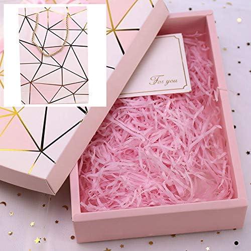 Xiaogongju - Caja de cartón para hacer rafia de papel, color rosa: Amazon.es: Juguetes y juegos