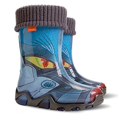 Boys Girls Kids Warm FleeceLined Transformer Wellington Boots Wellies 4  UK todler