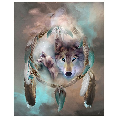 Bettal 5D Diamond Embroidery Wolf Painting Cross Stitch DIY Art Craft Home Decor