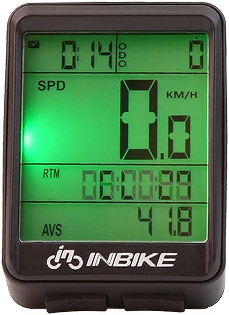 Velocímetro para Ordenador de Bicicleta, Multifunción, inalámbrico ...