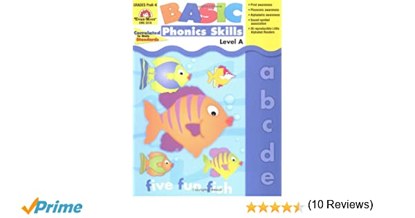 Amazon.com: Basic Phonics Skills, Level A (9781557999665): Evan ...