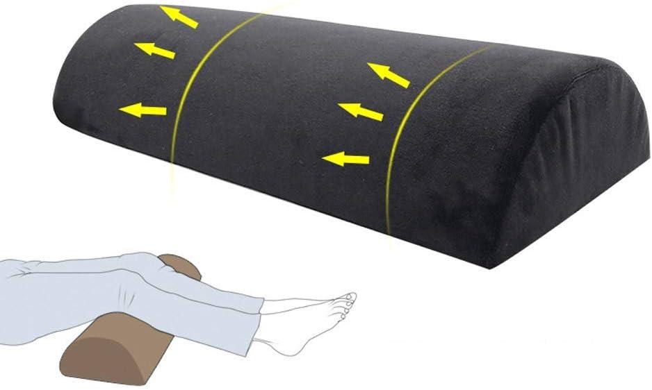 Gambe e Ginocchia Memory-Friendly Rivestimento in bamb/ù Lavabile e Rimovibile sul Collo e sulla Parte Inferiore della Schiena,Gray Jokeagliey Cuscino di Supporto per Cuscino a Mezzaluna