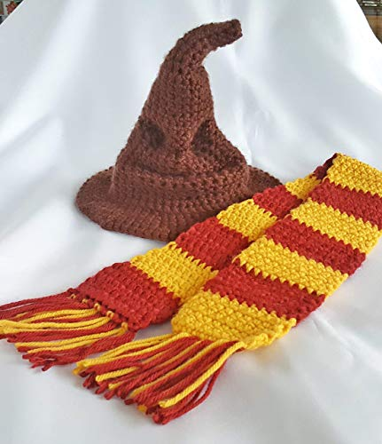 Crochet newborn sorting hat baby photo prop outfit ()