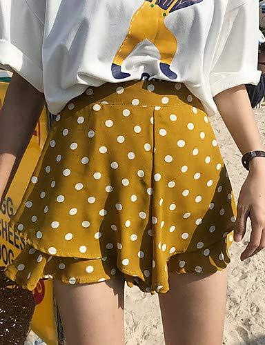 Dot Pantaloni Polka da Black Chinos YFLTZ chic donna dYwU8USq