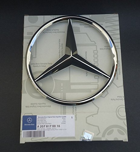 Mercedes-Benz Chrome Front Grill Star Emblem for C-Class, E-Class