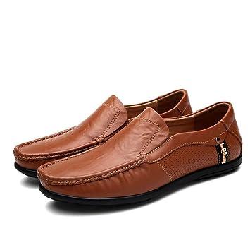 YAN Zapatos de Hombre Cuero Primavera y otoño Moda Vestido Mocasines Zapatos Negocio Conducción Zapatos para Hombres Informal/Diario Zapatos/Conducción: ...