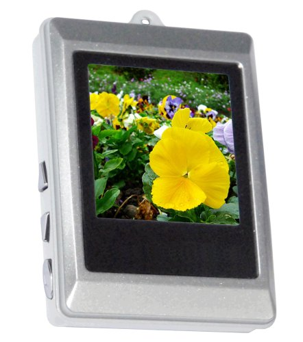 Curtis DPF151 1.5-Inch Digital Photo Frame Key Chain (Silver) ()