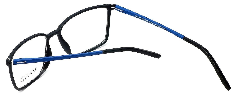 6970ea21ca3 Amazon.com  Calabria Viv Designer Eyeglasses 2016 in Black-Blue 55mm DEMO  LENS  Clothing