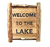 Decorative Wooden Sign - ''Welcome to the Lake'' (16'' x 14'')