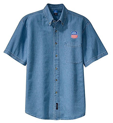 union-pacific-railroad-short-sleeve-embroidered-denim-den47ss
