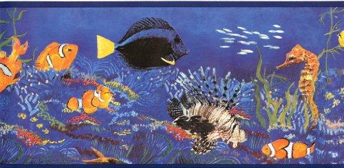 WT1035B Sea Life Fish Kids Wallpaper Border ()