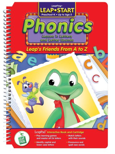 None LeapPad: LeapStart Phonics - Leap's Friends A to Z Interactive Book and Cartridge