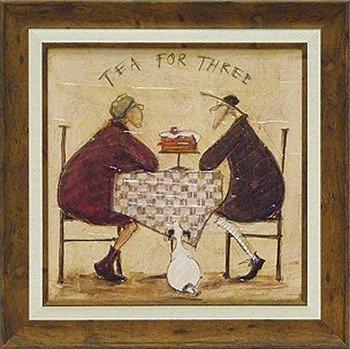 「3人でお茶」サムトフト可愛い雰囲気の特殊ゲル加工アート[絵画通販] B00H7DJPA4