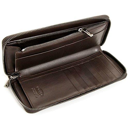 b8c0586adc62 Amazon | TOD'S(トッズ) メンズ 財布 カーフ ラウンドファスナー長財布 ダークブラウン CHA1400-TOP-BROWN[並行輸入品]  | 財布