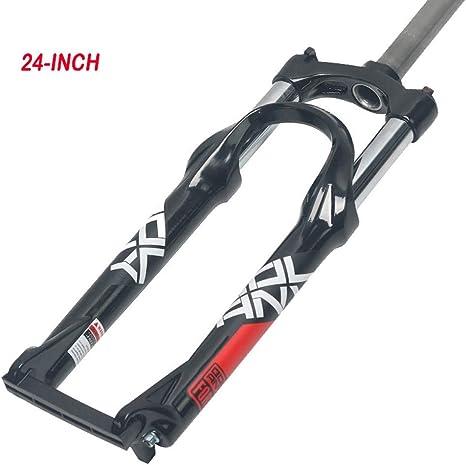SJAPEX 24 Pulgadas Ciclismo Horquillas, Horquilla de Bicicleta de Montaña, Horquilla Mecánica, Horquilla de Suspensión con Control de Hombro de Aluminio, Accesorios para Bicicletas: Amazon.es: Deportes y aire libre