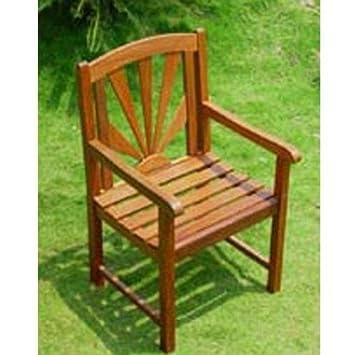 International Caravan VF-4207-2CH-IC Furniture Piece Acacia Sapporo Chair