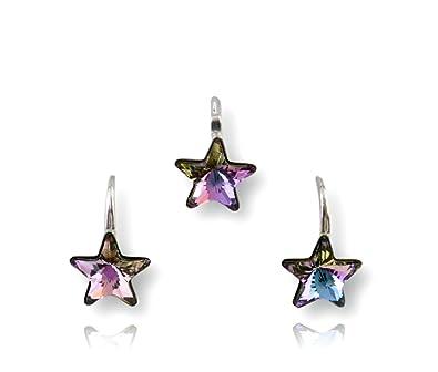 5dd401745 Crystals & Stones * Star * Vitrail Light Girl Lovely Accessory Set *  Wonderful earrings &