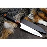 Yoshihiro Hayate ZDP-189 Super High Carbon Stainless Steel Petty Utility Chef's Knife 6Inch with Sterling Silver ring Nuri Say Cover