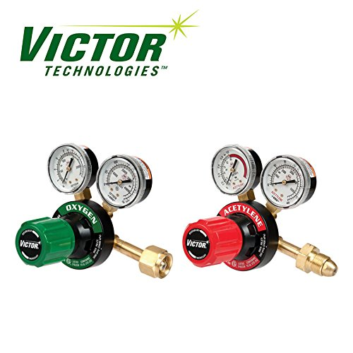 (Set of Genuine Victor Oxygen & Acetylene Regulators, Medium Duty, Brand New)