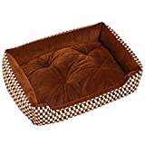ZHWKY Winter Warm Soft Pet Bed Cute Luxury Washable Thermal Cat Dog Cozy Puppy Nest Pad Mat Small Animal Houses Habitats